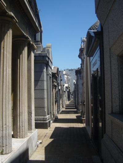 The streets of Recoleta Cemetery